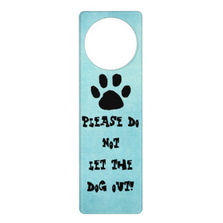 Dog Sign for Door