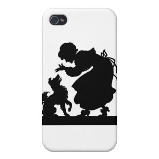 Dog Silhouette Cover For iPhone 4