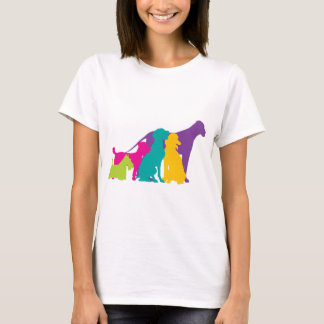 Dog Silhouettes Colour T-Shirt