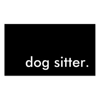 dog sitter. Double-Sided standard business cards (Pack of 100)
