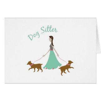 Dog Sitter Card