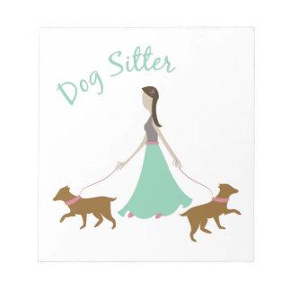 Dog Sitter Memo Notepad