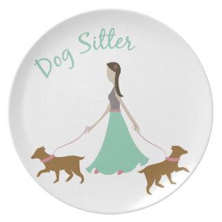 Dog Sitter Dinner Plate