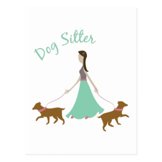 Dog Sitter Postcard