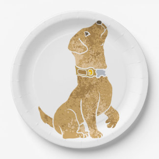dog sitting. adopt a pet. 9 inch paper plate