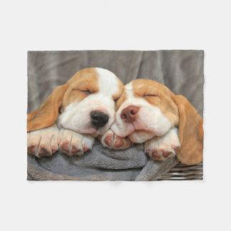 Dog Sitting Fleece Blanket