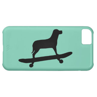 Dog Skateboarding - Funky iPhone 5C Case