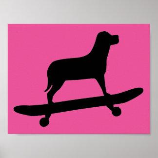 Dog skateboarding - Funny Dog Posters