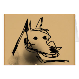 Dog Sketch 01 - Blank Greeting Card