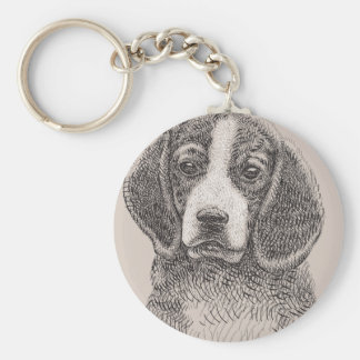 "Dog Sketch 2.25"" Basic Button Keychain"