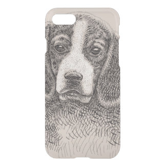 Dog Sketch Custom iPhone 7 Clearly™ Deflector Case