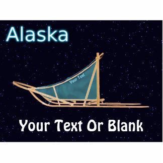 Dog Sled - Alaska Photo Sculpture Magnet