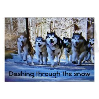 DOG SLED DASHING THRU SNOW CARD