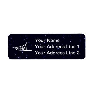 Dog Sled Return Address Label