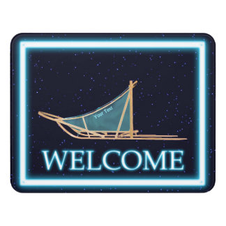 Dog Sled On Stars - Welcome Door Sign