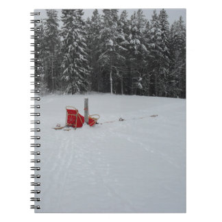 Dog sled spiral note books