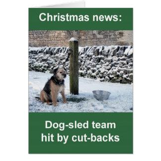 Dog-sled team Christmas card
