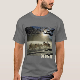 Dog Sled Team Image Mush Personalised T-Shirt