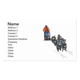 Dog Sledding Business Card Templates