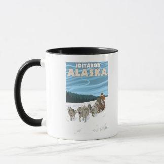 Dog Sledding Scene - Iditarod, Alaska Mug
