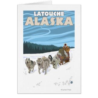 Dog Sledding Scene - Latouche, Alaska Card