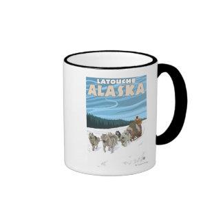 Dog Sledding Scene - Latouche, Alaska Mug