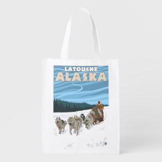 Dog Sledding Scene - Latouche Alaska Market Tote