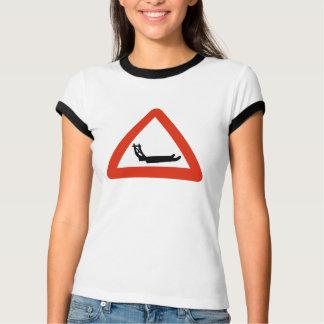 Dog Sleds Crossing, Traffic Sign, Greenland T-Shirt