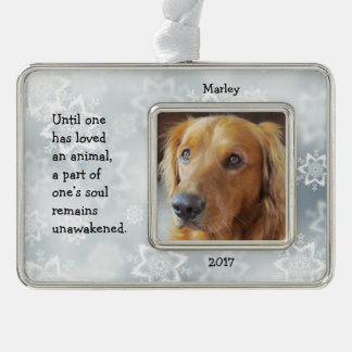 Dog Snowflake Christmas Ornament with Quote