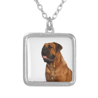Dog Square Pendant Necklace