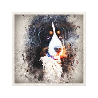 Dog, St. Bernard - Saint Berne ARD Dog Canvas Print
