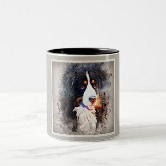 Dog, St. Bernard - Saint Berne ARD Dog Two-Tone Coffee Mug