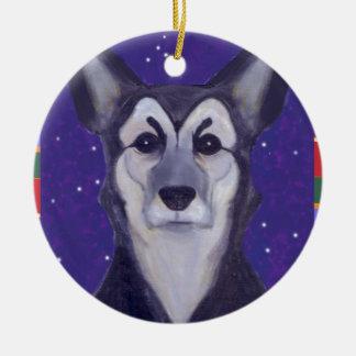 Dog Star Christmas Tree Ornaments