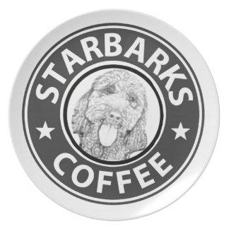 dog Starbucks Plate