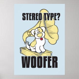 Dog stereo poster