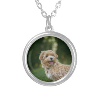 Dog Summer Out Pet Animal Fun Happy Vacation Silver Plated Necklace