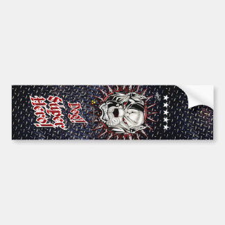 Dog Superhero Black Floor-2...!!! Bumper Sticker