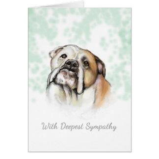 Dog Sympathy - Bulldog Dog Sympathy Card