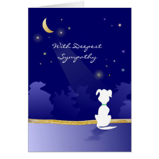 Dog Sympathy Card - Moon and Stars
