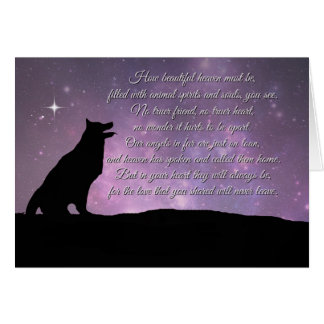 Dog Sympathy Card With Spiritual Poem