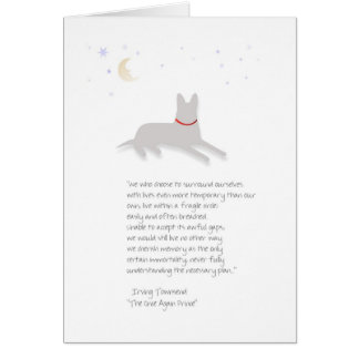 Dog Sympathy - German Shepherd - with Poem Greeting Card