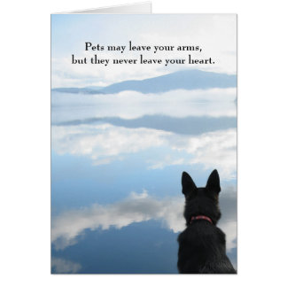 Dog Sympathy - Pets May Leave Your Arms Card