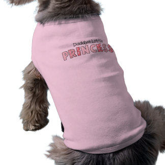 Dog T-Shirt Pet Clothing Daddy's Little Princess