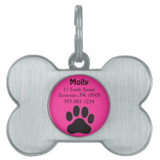 Dog Tag for Girl Dogs Pet Name Tag