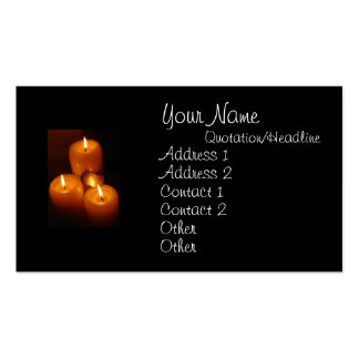 Dog Tags and Candles - Military Business Cards