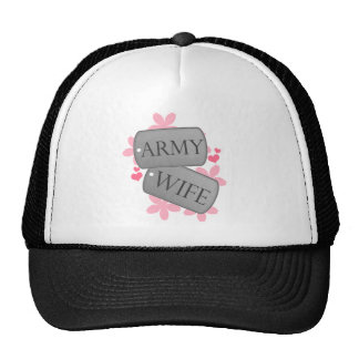 Dog Tags - Army Wife Mesh Hats