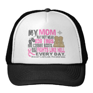 Dog Tags Breast Cancer Mom Hat