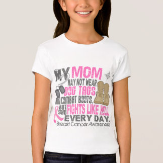 Dog Tags Breast Cancer Mom T-shirts