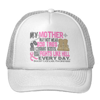 Dog Tags Breast Cancer Mother Trucker Hat