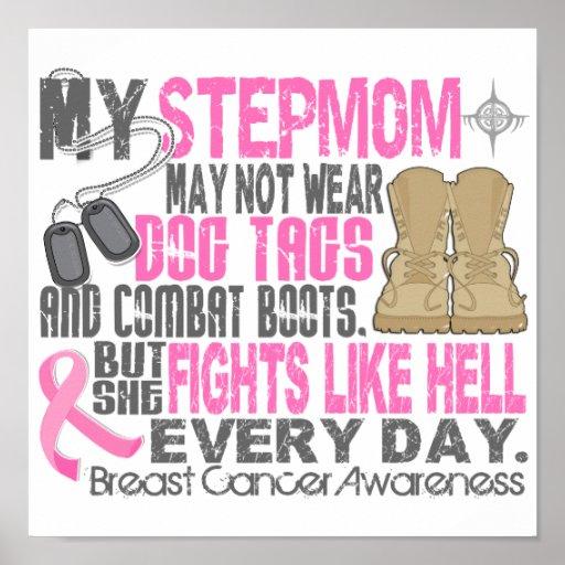 Dog Tags Breast Cancer Stepmom Print